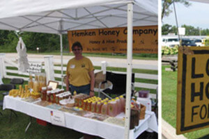Farm markets are a good way to pay for your beekeeping. Local sells.