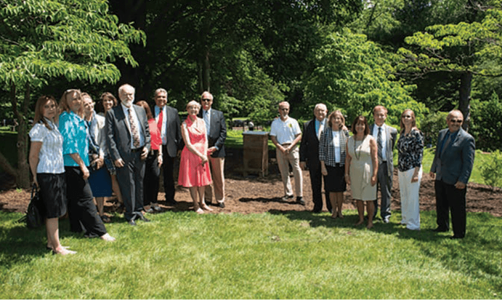 Unveiling of the bee hive at the Naval Observatory. Official White House Photo by Andrea Hanks.