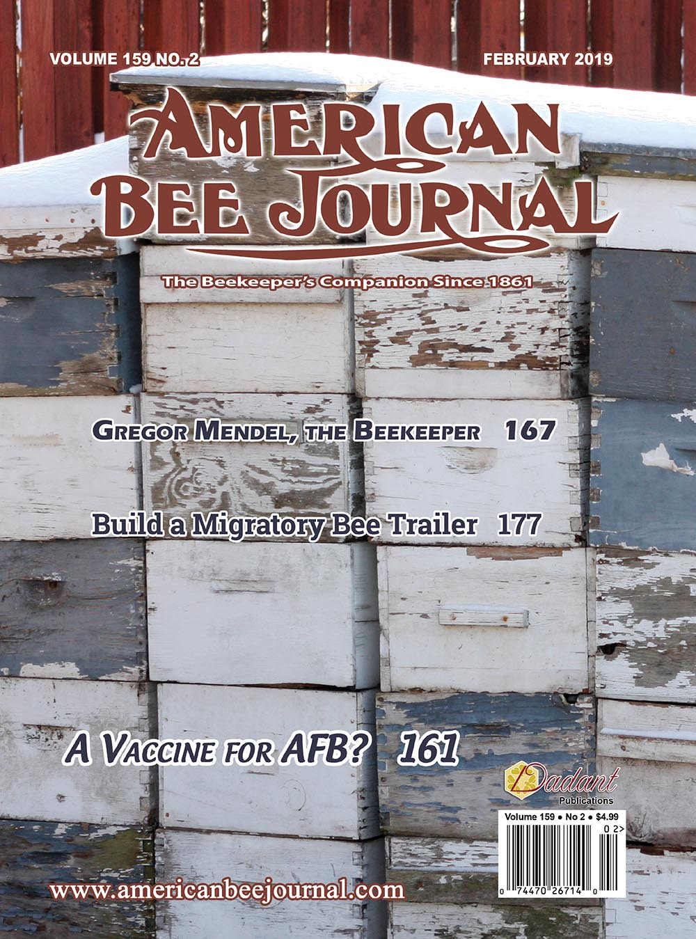 American Bee Journal February 2019 Cover